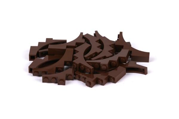 25 Stück Brick-Arch 1 x 5 x 4 reddish brown