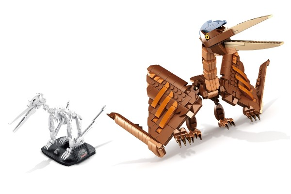Dinosaurier Set Pterosaurus inkl. Skelett auf Ständer