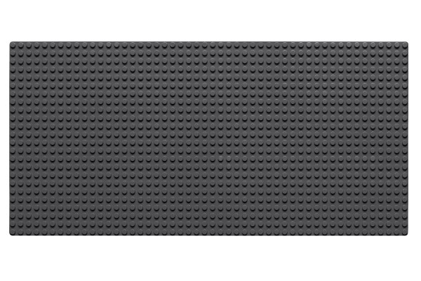 Grundplatte 24 x 48 Noppen (dunkelgrau)