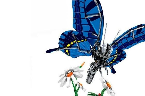 Mechanischer Schmetterling blau