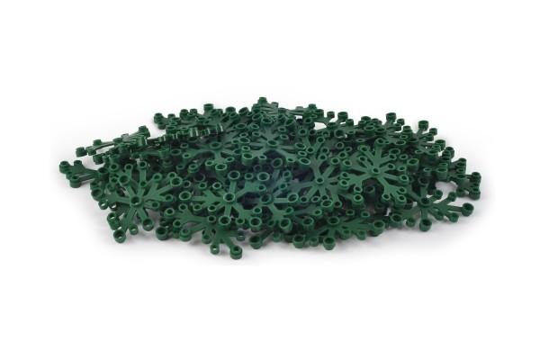50 Stück Blattelement 6 x 5 brick plant leaves Farbe dark green